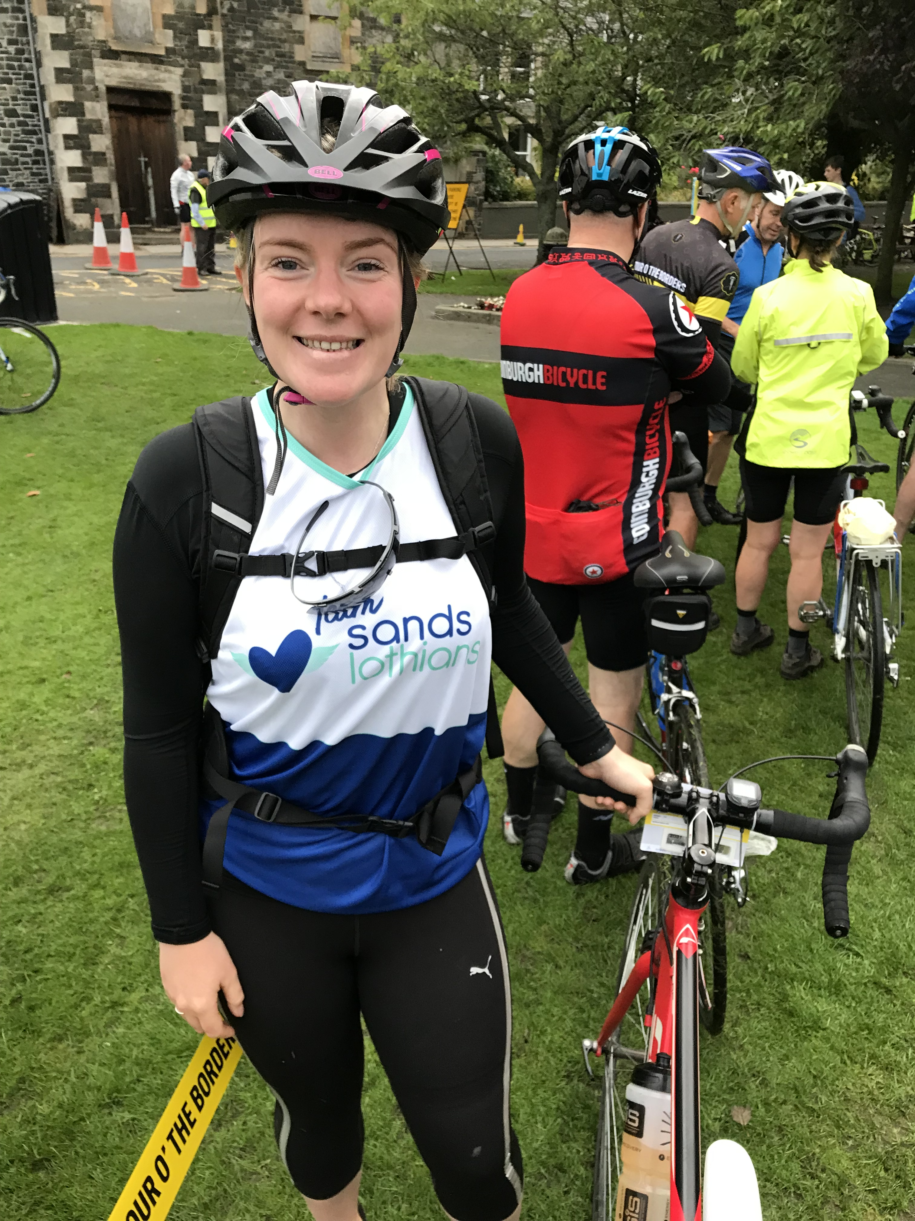 Nicola Stirling on the Tour O The Borders cycle ride
