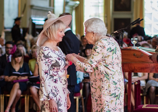 Alison Sellar Receives OBE from Her Majesty The Queen