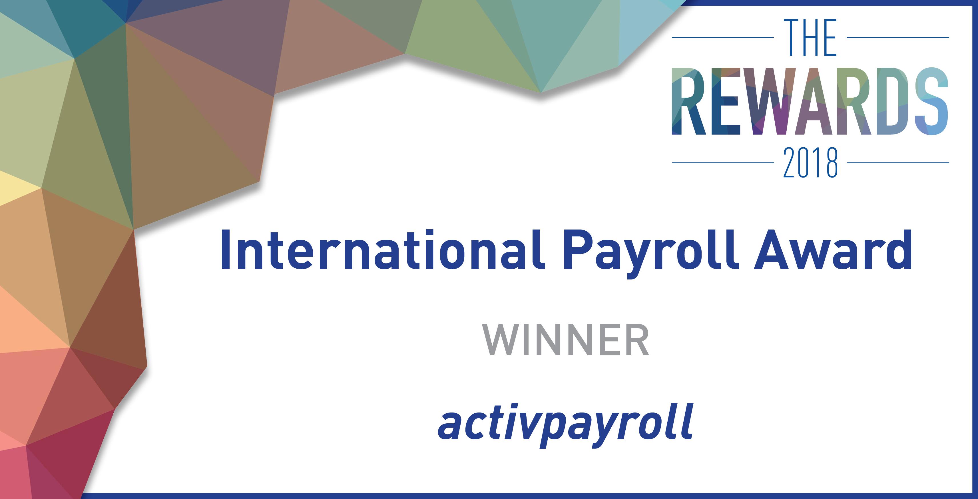 activpayroll wins International Payroll Award