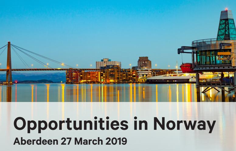 Opportunities in Norway event